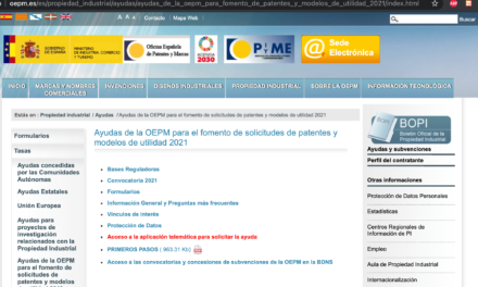 Pasos para solicitar la subvención de la OEPM a  inventores Españoles. (Actualizado 2021)