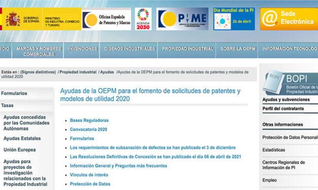Pasos para solicitar la subvención de la OEPM a  inventores Españoles. (Actualizado 2020)