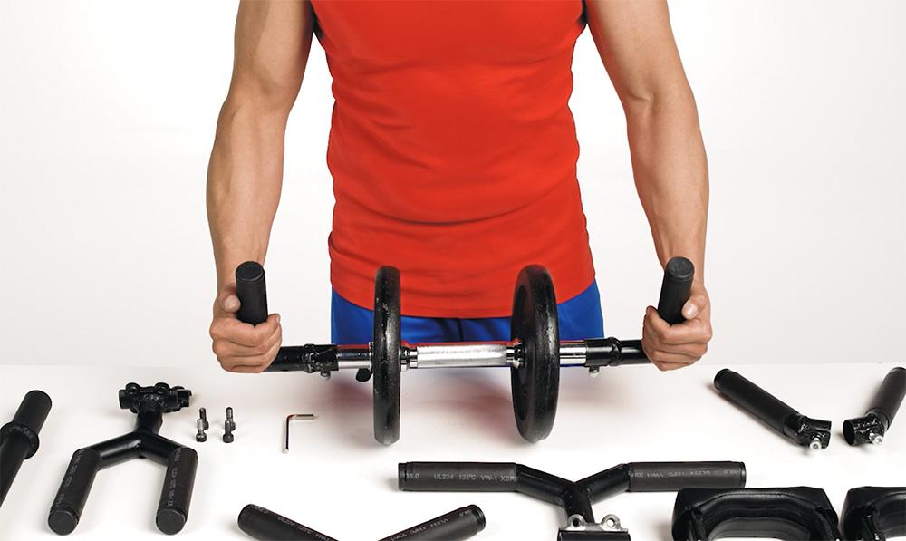 HOLDWEIGHTS el invento que transforma tus mancuernas en un completo equipo de musculación